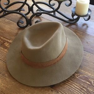 Madewell - Wyeth Wool Light Brown Rancher Hat